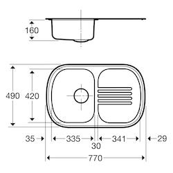 Contura Steel Diskbänk 3P-770