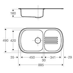 Contura Steel Diskbänk 1P-885