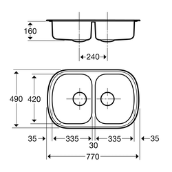 Contura Steel Diskbänk 84020290
