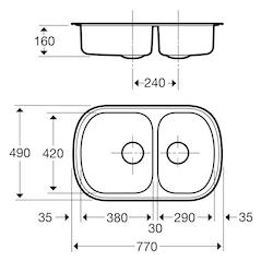 Contura Steel Diskbänk 24-770