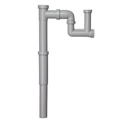 Contura Steel Vattenlås för enkellåda med teleskopsrör