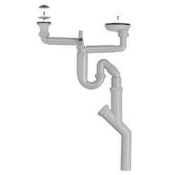 Contura Steel Vattenlås för dubbellåda med stucken sil