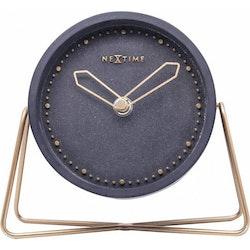 NeXtime Bordsklocka Cross Table Svart/Roséguld