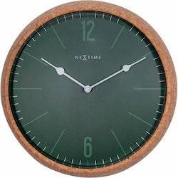 NeXtime Väggklocka Cork Grön