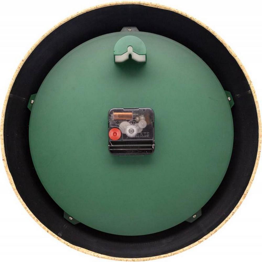 Väggklocka NeXtime Cork Grön