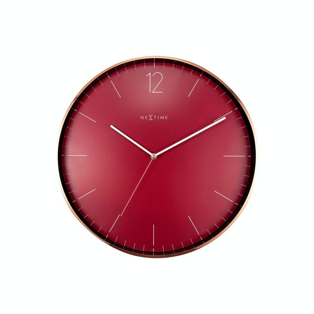 NeXtime Väggklocka Essential Röd/Koppar