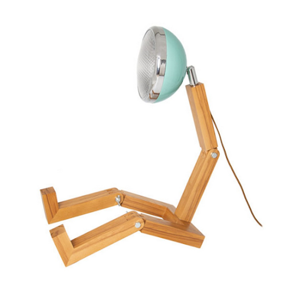 Mr. Wattson Mega LED Lamp Ash Tiffany Green