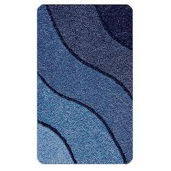 Kleine Wolke Badrumsmatta Wave Marine Blau