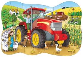 Golvpussel Traktor 25 bitar 3+