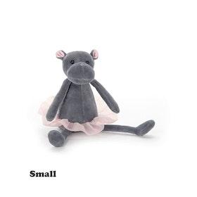 Jellycat flodhästballerina liten