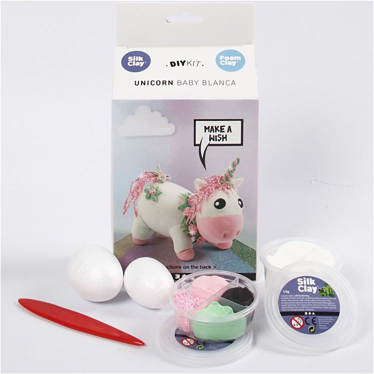 Unicorn baby blanca foam clay