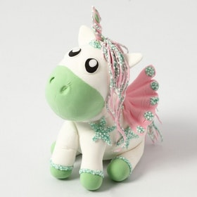 Unicorn baby bibib foam clay