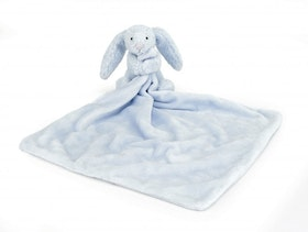Jellycat Bashful Blue Bunny Soother. 0+