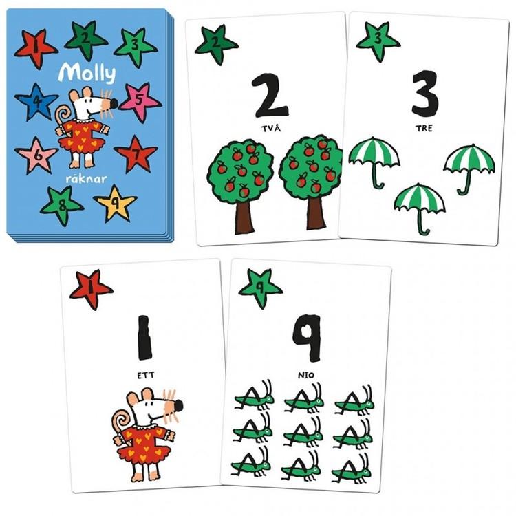 Molly räknar - kortspel