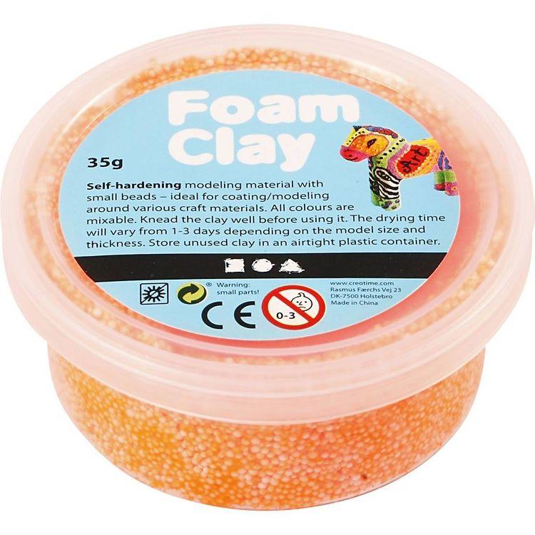 CC Foam clay neon orange 35g