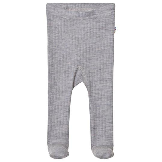 Joha Ribbstickad leggings med fot Str 50, 60, 70