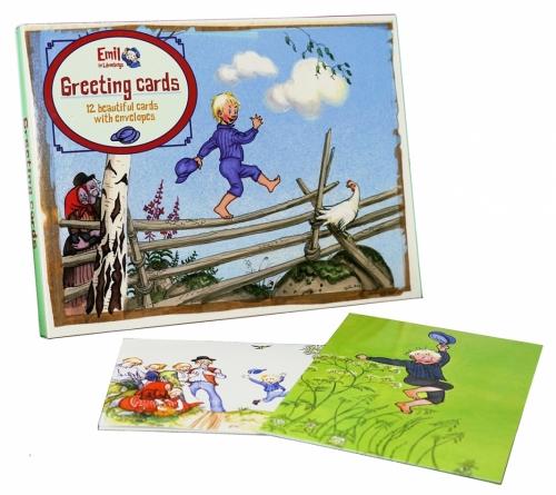 Emil i Lönneberga 12 st kort med kuvert