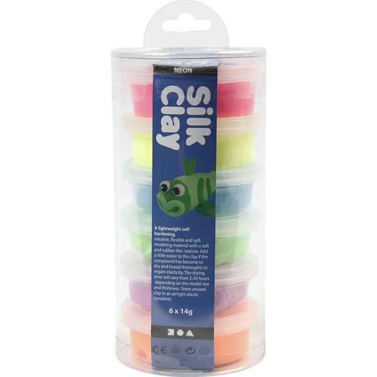 CC Silk clay Neon 6-p