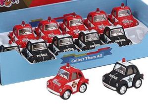 Mini VW Polis eller brandbil