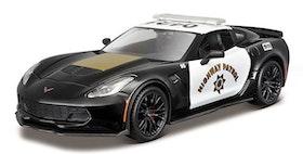 1:24 Corvette Zo6 -2015 Polisbil