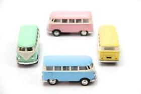 1:64 1962 Volkswagen Buss Pastell Mini - 4 olika