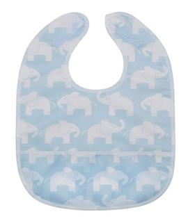 Rätt start Elefant blå haklapp