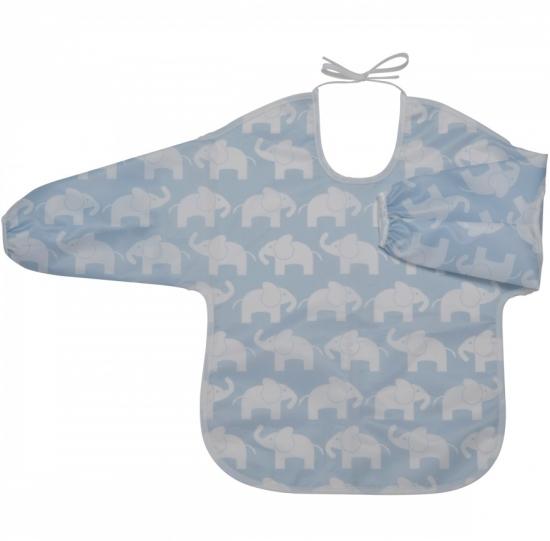 Rätt start Elefant blå förkläde m. ärm svart-vit