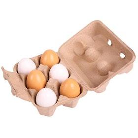 Träägg i äggkartong