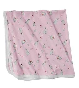 Newborn rosa filt i bambu