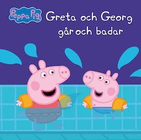 Greta och Georg går och badar
