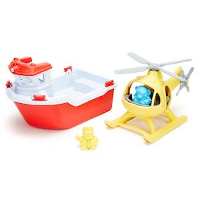Green toys Räddningsbåt och helikopter