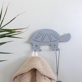 Marnelly väggkrok sköldpadda grå