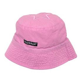 Villervalla Solhatt rosa med band Str 44/46, 48/50