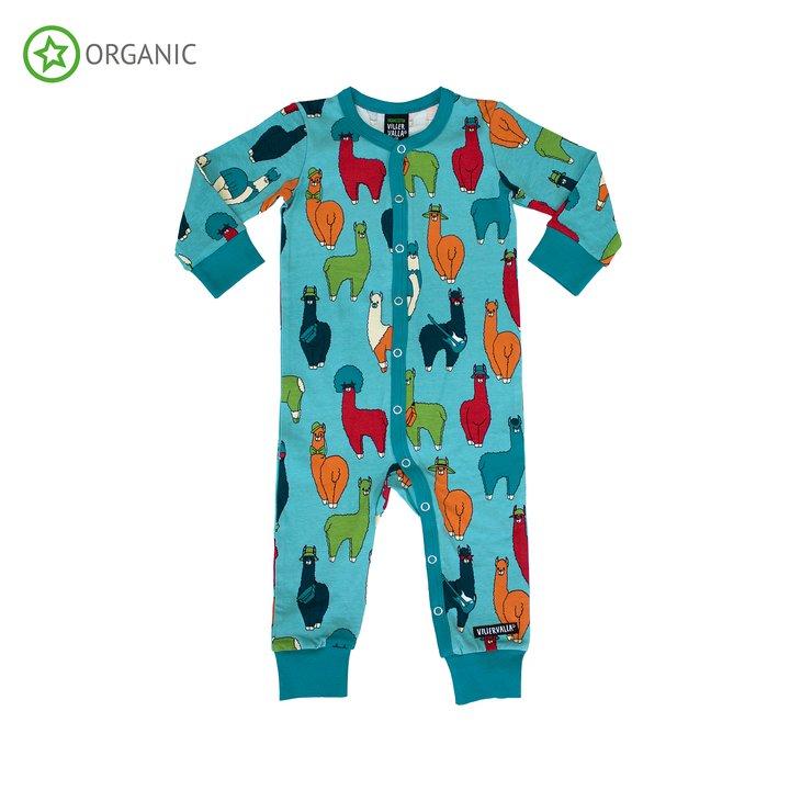 Villervalla pyjamas Blå Str 56, 62, 68, 74, 80, 86