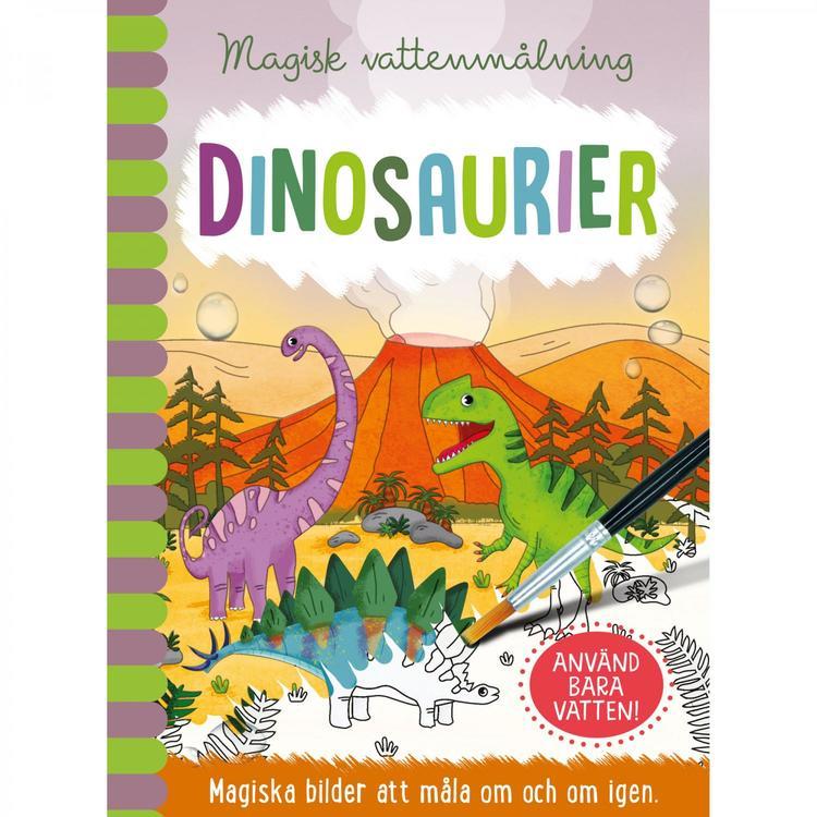 Magisk vattenmålning Dinosaurier