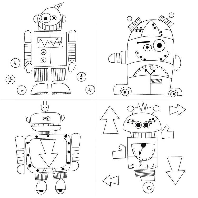 CC Målarduk 4-pack Robot