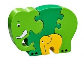 Lanka Kade 4-bitars pusseldjur Elefant