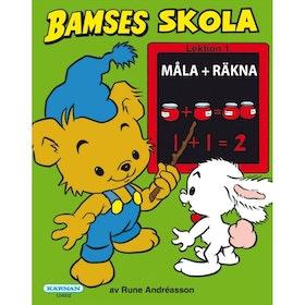 Bamses skola Måla och räkna
