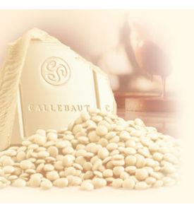 Callebaut chocklad vit 2,5 kg.