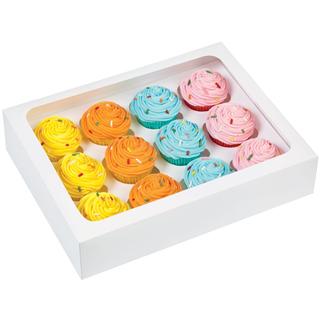 12 st. vita låder till cupcakes