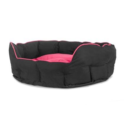 Buddy oval rosa/svart