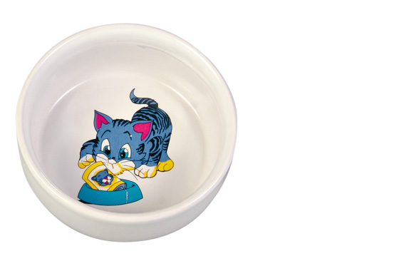 Keramikkskål katt