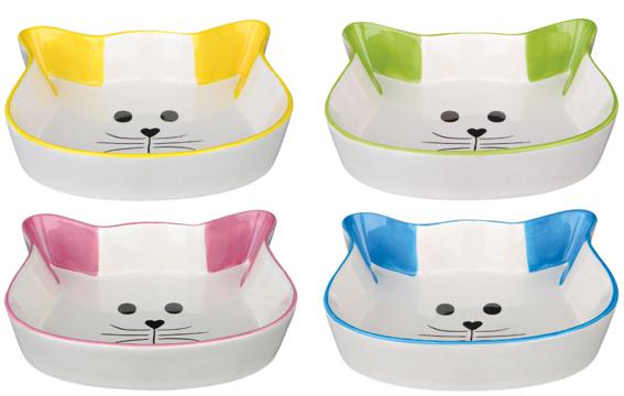 Keramikkskål kattform