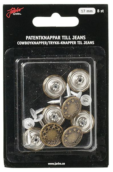 Patentknappar oxyd jeans