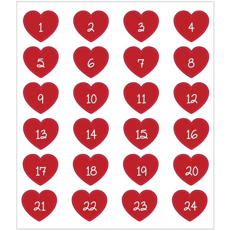 Hjärtan m/ siffror