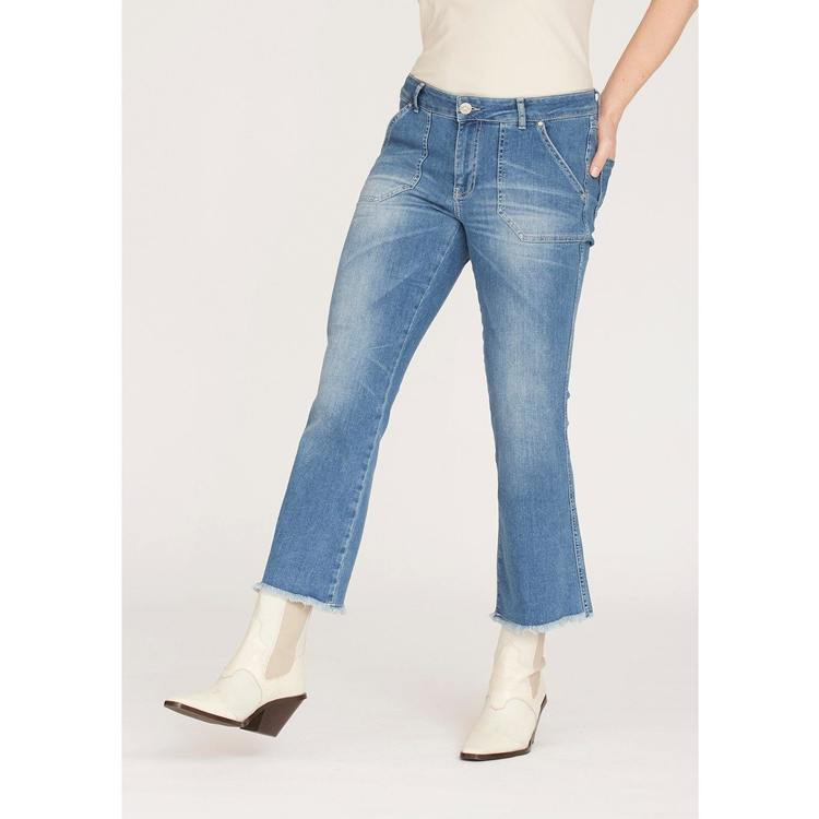 isay - Como Flare Jeans Blue