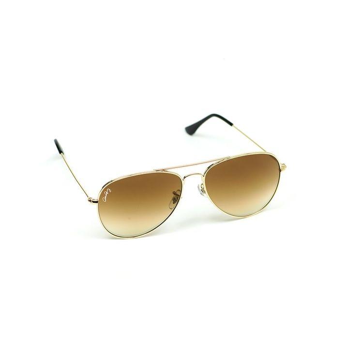Gynning Design - Solglasögon Guld Metallbågar