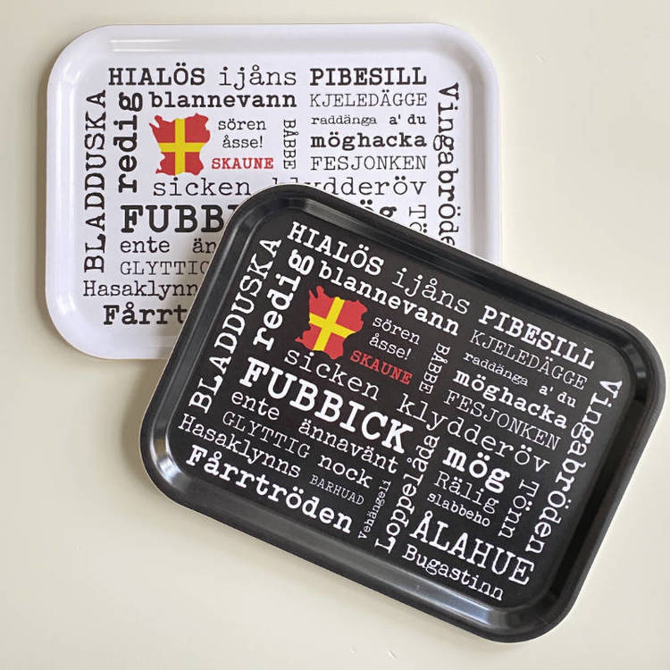 Kokkolit - Frukostbricka Skånska ord, Svart eller Vit