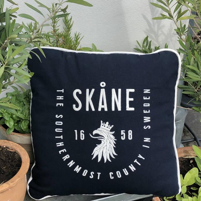 Kokkolit - Skåne kuddfodral   Mörkblå