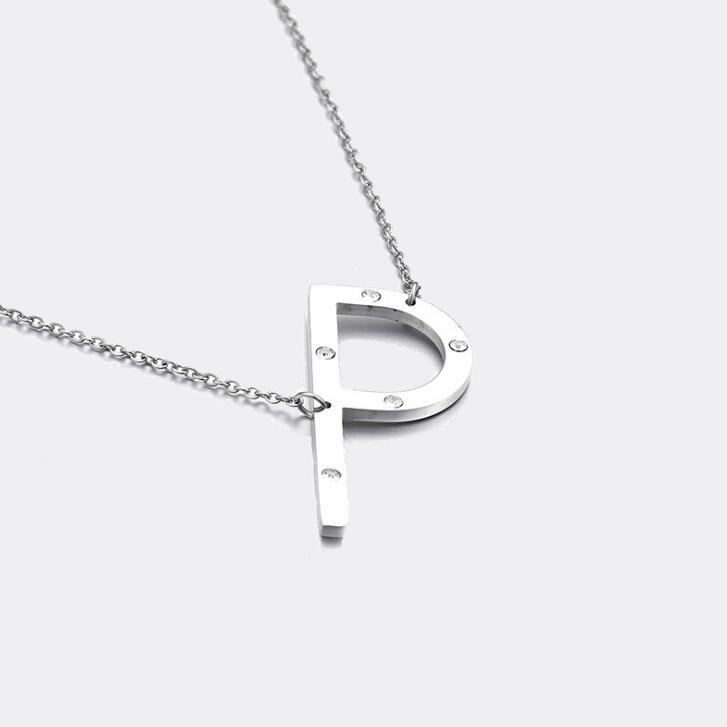 IOAKU - Identity Halsband  A-Z Silver